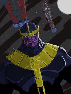 Thanos, drawn on Procreate App for iOS.