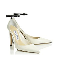 Helix 100 Latte Nappa Leather Leather Pump with Contrasting Black Patent Strap. Discover our Pre Fall 19 Collection and shop the latest trends today. Bridal Heels, Wedding Shoes Heels, Fancy Shoes, Me Too Shoes, Cinderella Shoes, Latest Shoes, Jimmy Choo Shoes, Designer Boots, Dream Shoes