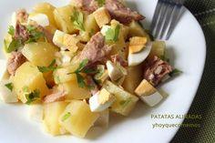 Spanish Food, Spanish Recipes, Salad Recipes, Healthy Recipes, Cantaloupe, Potato Salad, Salads, Menu, Fruit