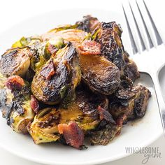 With Bacon Pan Fried Brussel Sprout Recipe.Pan Fried Brussels Sprouts With Bacon And Almonds. Pan Fried Brussel Sprouts With Bacon And Chestnuts Recipe . Grilled Brussels Sprouts With Bacon Recipe Serious Eats. Home and Family Crispy Baked Chicken Legs, Baked Balsamic Chicken, Oven Roasted Chicken, Fried Chicken, Frozen Brussel Sprouts Recipe, Pan Fried Brussel Sprouts, Brussels Sprouts, Chicken Drumstick Recipes, Chicken Wing Recipes