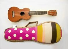 cute ukulele case maybe i'll do this for my guitar too :)