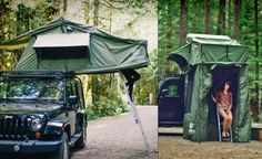 Jeep roof tent camping