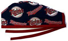 Men's Unlined Surgical Scrub Hat Cap in Minnesota Twins