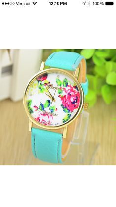Floral watch. Loving this design.