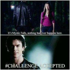 Find images and videos about funny, the vampire diaries and tvd on We Heart It - the app to get lost in what you love. Wallpaper Vampire Diaries, Quotes Vampire Diaries, The Vampire Diaries 3, Vampire Diaries The Originals, Tvd Quotes, Funny Quotes, Funny Tweets, Ian Somerhalder, Beaux Couples