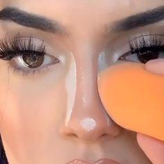 How I do my nose contour tutorial by Nose Makeup, Contour Makeup, Eyebrow Makeup, Glam Makeup, Skin Makeup, Eyeshadow Makeup, How To Contour Nose, Dramatic Eyeshadow, Easy Eyeshadow