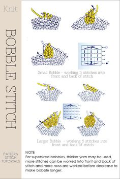 Needlecrafts - Knitting: Bobble Stitch