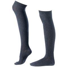 Dark Grey Cool & Cosy Long Socks ($13) ❤ liked on Polyvore featuring intimates, hosiery, socks, lingerie, lingerie hosiery, lingerie socks, thigh-high socks, long socks and joe browns