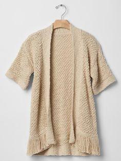 Open fringe cardigan Product Image