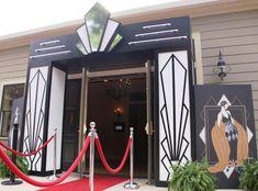 Great Gatsby Themed Event | Art Deco Entrance | Shag Carpet Prop Rentals | Dallas, TX