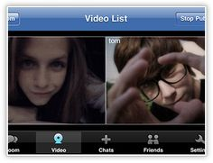 This is an example of  two people using a video chatting service, with what appears to be two friends or possibly lovers. In any case it shows that video chatting allows more personal communication than text messaging or phone calling in terms of long distance communication.