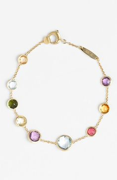 Marco Bicego 'Mini Jaipur' Single Strand Bracelet available at Jewelry For Her, Gems Jewelry, Jewelry Art, Jewelry Bracelets, Fine Jewelry, Fashion Jewelry, Jewelry Design, Jewelry Making, Bullet Jewelry