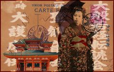 chinese postcard collage - Google Search