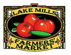 Lake Mills Farmers' Market | Wednesdays 2pm through 6:30pm in Commons Park in downtown Lake Mills.