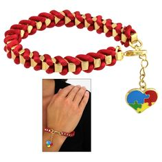 Autism Awareness Wrapped Box Chain Bracelet at The Animal Rescue Site