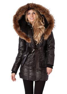 Canada Goose' Women's Fur-Trimmed Massey Parka-BLACK Size M