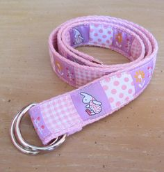 Spring Bunny D Ring Belt for Girls
