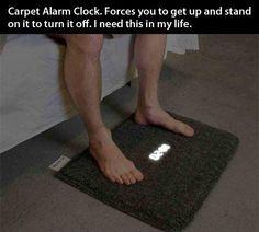 Carpet Alarm clock. Neeeeeed!