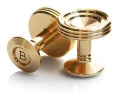 Mayfair cufflinks in titanium with polished by BuchananWilmot