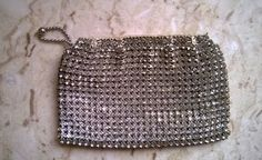 Antique Czechoslovakian Crystal Rhinestone Small Clutch (circa Roaring 20's) by LoveliesLovelies on Etsy