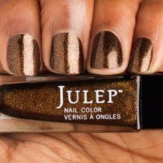 Candace: Golden chocolate microglitter nail polish
