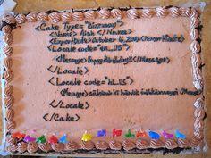 Computer programmer birthday cake