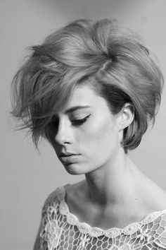 Short hair, this is lovely what mine might look like this short
