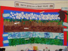 We're Going on a Bear Hunt classroom display photo - Photo gallery - SparkleBox Preschool Curriculum, Kindergarten Activities, Book Activities, Autumn Activities, School Displays, Classroom Displays, Bear Theme, Book Corners, Book Themes