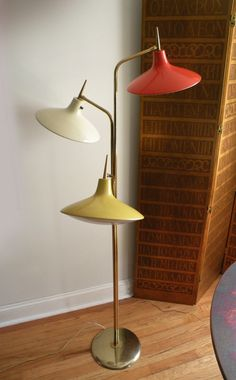 1960s Three Head 'UFO' Floor Lamp by Laurel