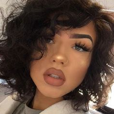Simple Makeup Pretty Makeup Love Makeup Gorgeous Makeup Makeup Goals Natural Makeup Makeup Inspo Makeup Tips Makeup Ideas Dope Makeup, Baddie Makeup, Makeup On Fleek, Gorgeous Makeup, Pretty Makeup, Makeup Looks, Baddie Hairstyles, Messy Hairstyles, Fringe Hairstyles