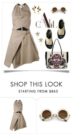 """""""coffee time"""" by tato-eleni ❤ liked on Polyvore featuring Carven, Loungefly and Jennifer Behr"""