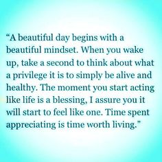 Mindfulness and gratitude bring blessings.