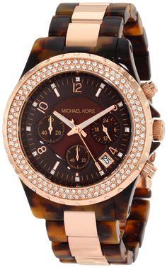 3f629982df421 Michael Kors Women s Watch MK5416 Madison Chronograph Tortoise and Rose Gold  NEW