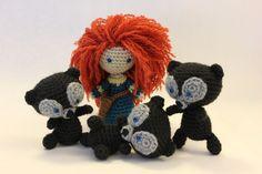 PATTERN Merida AND Triplet Bears Brave Disney Crochet Doll Amigurumi. $9.00, via Etsy. By Sahrit