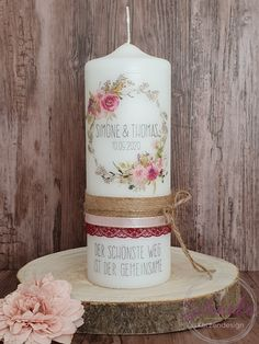 Christening Party, Baptism Party, Wedding Unity Candles, Pillar Candles, Personalized Candles, Christmas Candles, Candle Set, Just Married, Wedding Anniversary