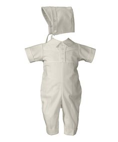 Take a look at this White Christening Coverall & Bonnet - Infant by Little Things Mean a Lot on #zulily today!