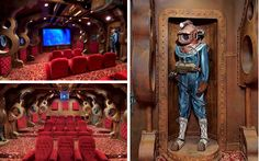 Steampunk and 20,000 Leagues Under the Sea inspired home theater