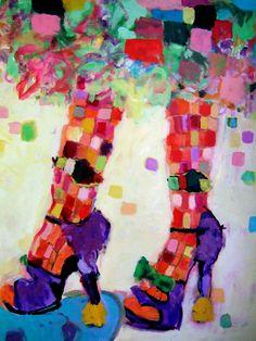 Purple Shoes,  Artist, Sandy Welch