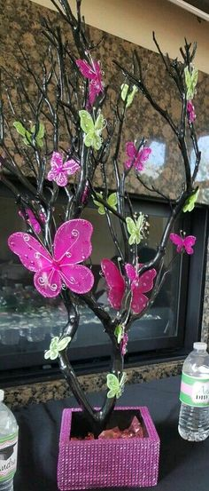 Noticeable upgraded quinceanera party themes my sources Butterfly Garden Party, Butterfly Birthday Party, Butterfly Baby Shower, Butterfly Party, Butterfly Wedding, Birthday Party Themes, Butterfly Tree, Butterfly Centerpieces, Butterfly Decorations