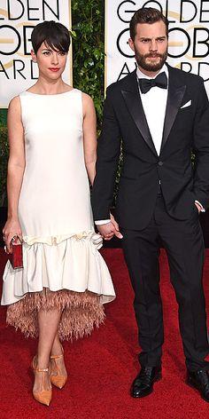 Golden Globe Awards 2015: Arrivals : People.com - Amelia Warner and Jamie Dornan