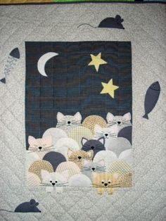 Gatitos dormilones | Mundo de Patchwork Baby Quilts Easy, Cute Quilts, Baby Boy Quilts, Scrappy Quilts, Mini Quilts, Dog Quilts, Barn Quilts, Clamshell Quilt, Cat Quilt Patterns