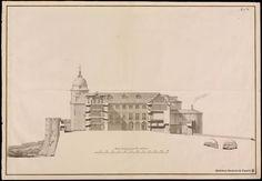 Proyectos para el Archivo Real de Simancas. Sección vertical y puente  (1762) RODRÍGUEZ, Ventura