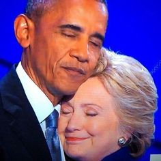 Hilary​ Clinton & Barack Obama I love these two #PowerTeam #Winning #Strategists
