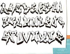 Graffiti Alphabet by DJTurnAround - graffiti alphabet - Art Grafitti Alphabet, Graffiti Alphabet Styles, Graffiti Lettering Alphabet, Graffiti Styles, Bubble Letters Alphabet, Bubble Letter Fonts, Alphabet Art, Graffiti Text, Graffiti Drawing