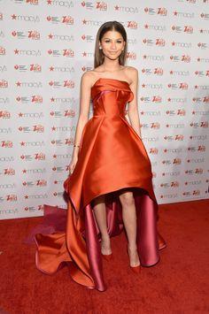 Zendaya in a lovely Rubin Singer red dress for women with heart disease awareness at Fashion Week.