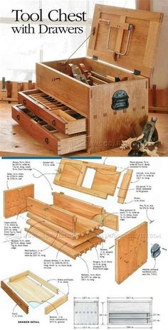 Tool Chest Plans - Workshop Solutions Projects, Tips and Tricks - Woodwork, Woodworking, Woodworking Tips, Woodworking Techniques Woodworking For Kids, Easy Woodworking Projects, Popular Woodworking, Woodworking Techniques, Woodworking Jigs, Woodworking Furniture, Diy Wood Projects, Woodworking Classes, Woodworking Beginner