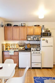10 Rules For Keeping a Small Kitchen (Or Any Space) Organized http://www.apartmenttherapy.com/the-10-commandments-of-keeping-a-small-space-organized-202312