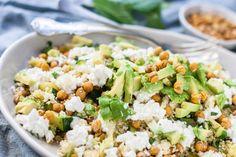 Couscous salade met avocado en geroosterde kikkererwten - OhMyFoodness