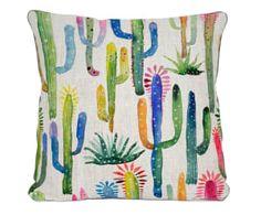 "Poduszka dekoracyjna ""Watercolor Cactus"", 45 x 45 x 5 cm"