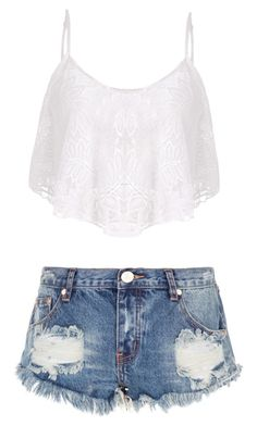 """""""Untitled #140"""" by twinkie1619 ❤ liked on Polyvore featuring One Teaspoon"""